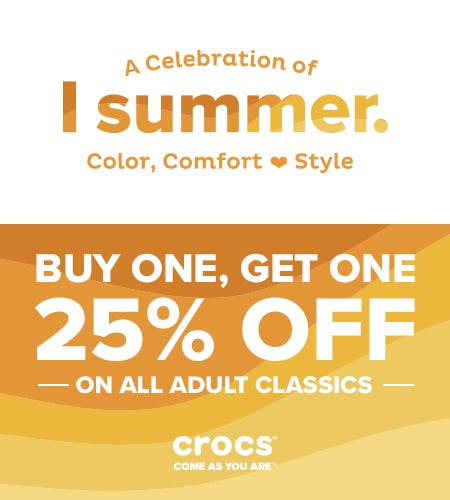 Classic Clogs Buy One, Get One 25% Off! from Crocs