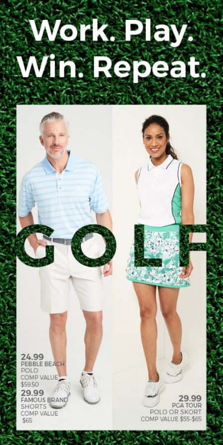 Golf Fashion Perfect from Stein Mart