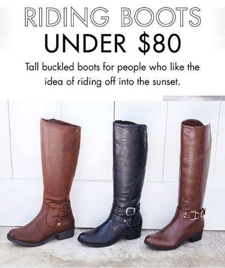 Riding Boots Under $80 from DSW Shoes