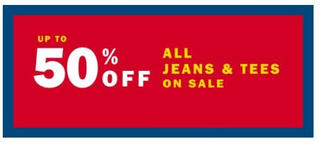 Up to 50% Off All Jeans & Tees on Sale from Old Navy