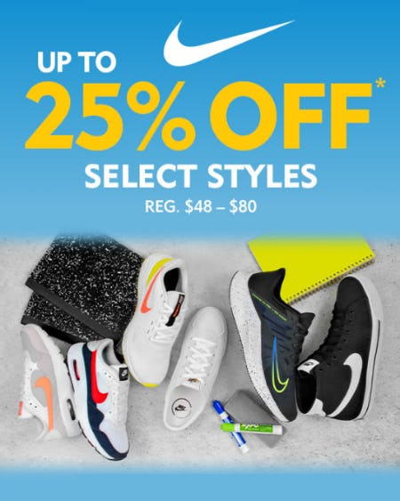 Up to 25% Off on Select Styles
