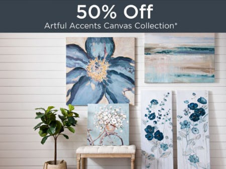 50% Off Artful Accents Canvas Collection from Kirkland's