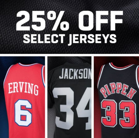 25% Off Select Jerseys from Lids