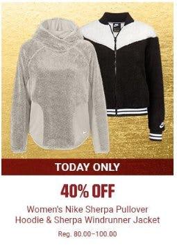ec1aec9e256 40% Off Women s Nike Sherpa Pullover Hoodie   Sherpa Windrunner Jacket