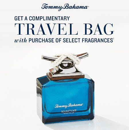 Get a Complimentary Travel Bag with Purchase of Select Fragrances from Tommy Bahama