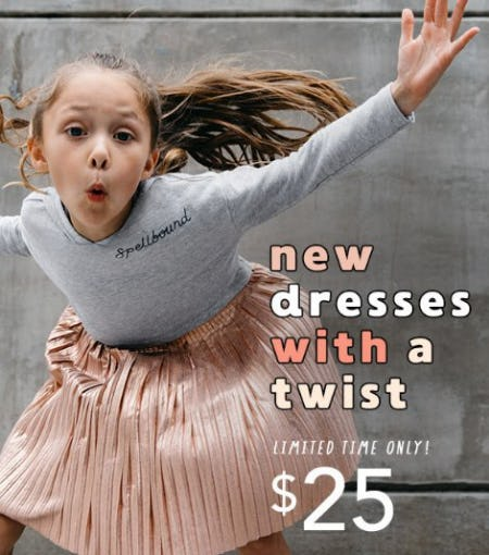 New Dresses With a Twist $25 from Gymboree