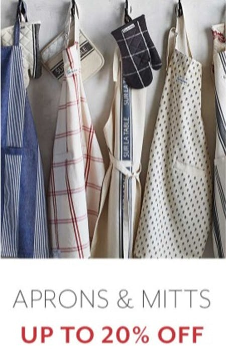 Up to 20% Off Aprons & Mitts from Sur La Table