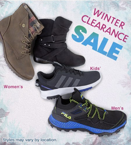 Winter Clearance Sale! from Shoe Dept. Encore