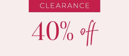 40% Off Clearance from Lane Bryant