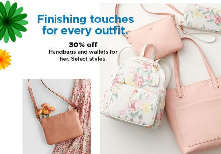30% Off Handbags & Wallets for Her from Kohl's