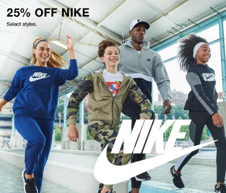 25% Off Nike from Macy's Men's & Home & Childrens
