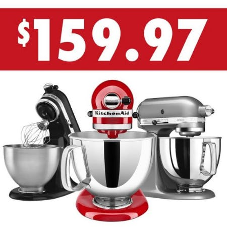 KitchenAid Refurbished Artisan 5QT Tilt-Head Stand Mixers Now Only $159.97 Each from Kitchen Collection