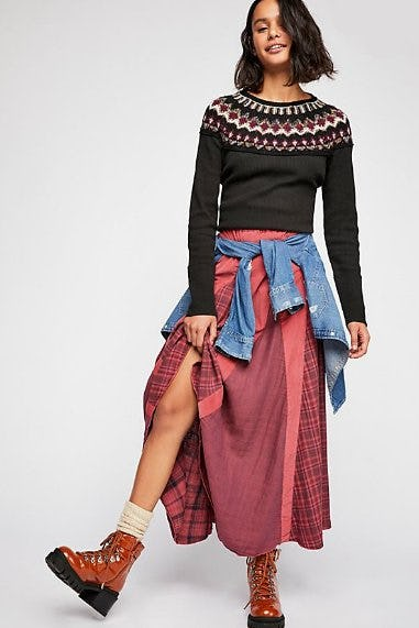 Patchwork Maxi Skirt from Free People