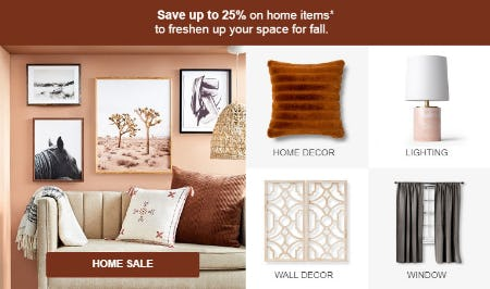 Up to 25% Off Home Sale