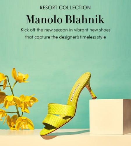 New resort: Manolo Blahnik Shoes from Neiman Marcus