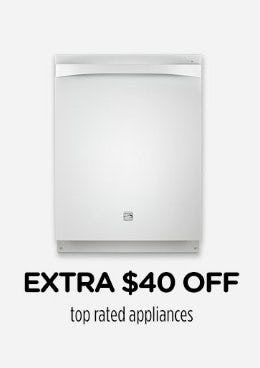 Extra $40 Off Top Rated Appliances from Sears