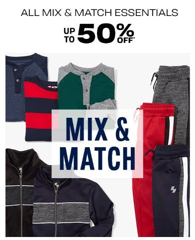 All Mix & Match Essentials up to 50% Off