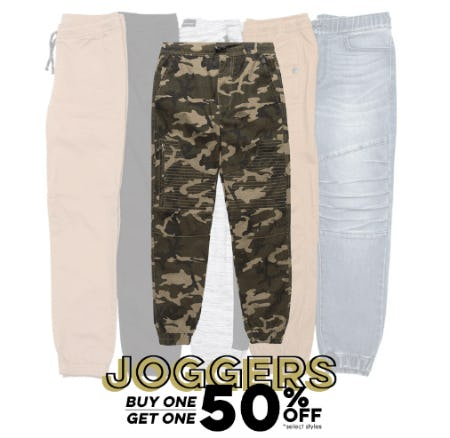 Joggers BOGO 50% Off from Tillys