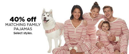 40% Off Matching Family Pajamas from Kohl's