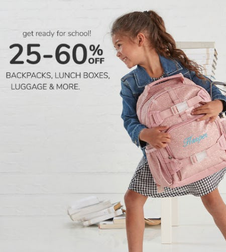 25-60% Off on Backpacks, Lunch Boxes, Luggage & More from Pottery Barn Kids