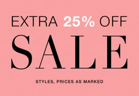Extra 25% Off Sale Styles from Everything But Water
