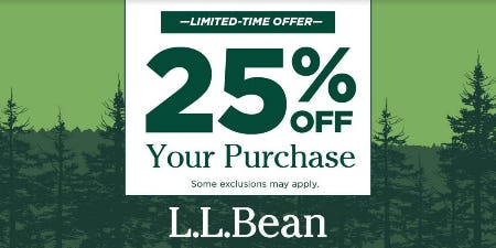 25% Off Your Purchase from L.L. Bean