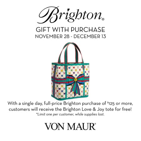 Brighton Love & Joy tote GWP from Von Maur