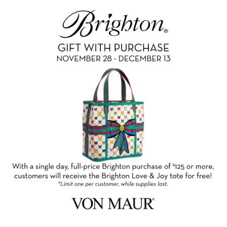 Brighton Love & Joy tote GWP