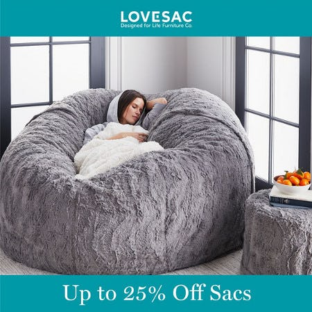 Up to 25% Off Sacs from Lovesac Designed For Life Furniture Co