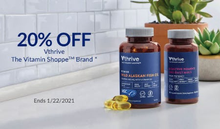20% Off Vthrive The Vitamin Shoppe Brand