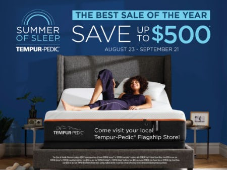 Labor Day Event from Tempur-Pedic