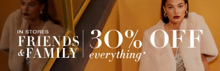 Friends & Family: 30% Off on Everything from BCBG