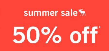 50% Off Summer Sale from abercrombie kids