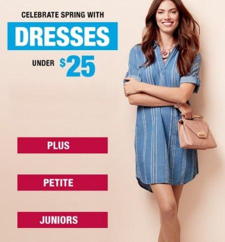 Spring Dresses Under $25 from Burlington