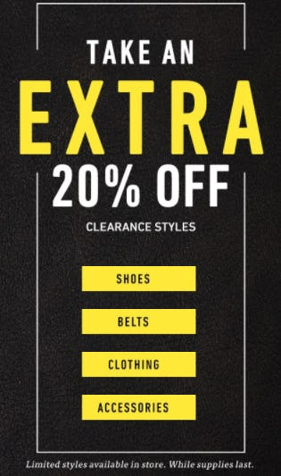 Extra 20% Off Clearance Styles from Allen Edmonds