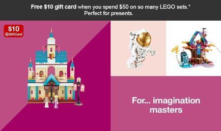 Free $10 Gift Card with $50 LEGO Sets Purchase from Target