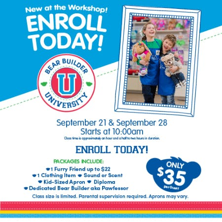 Sign up for Bear Builder University at Build-A-Bear Workshop®! from Build-A-Bear Workshop