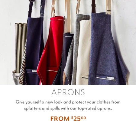 Aprons From $25.00 from Sur La Table