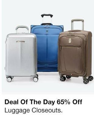 65% Off Luggage Closeouts from macy's