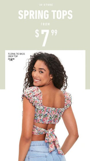 Spring Tops from $7.99 from Forever 21