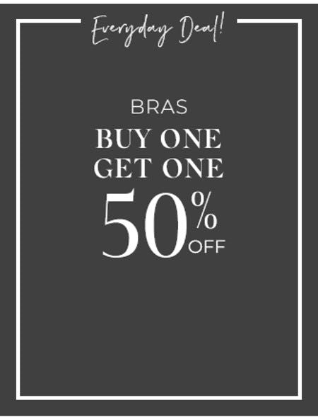 Bras Buy One, Get One 50% Off from Cacique