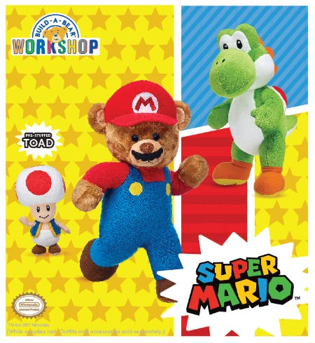 New Super Mario Collection at Build-A-Bear Workshop