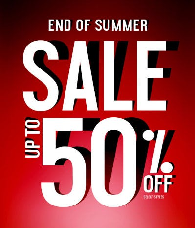 Up to 50% Off End of Summer Sale from Rainbow