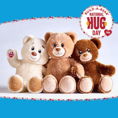 CeleBEARate National Hug Day 2019 with Build-A-Bear Workshop!