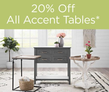 20% Off All Accent Tables from Kirkland's