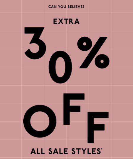 Extra 30% Off Sale from Madewell