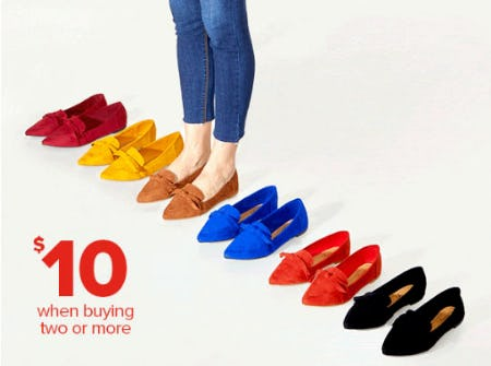$10 Shoes When Buying 2 or More from Rainbow