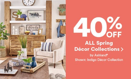 40% All Spring Decor Collections from Michaels