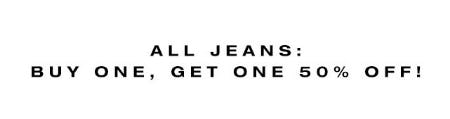 BOGO 50% Off All Jeans