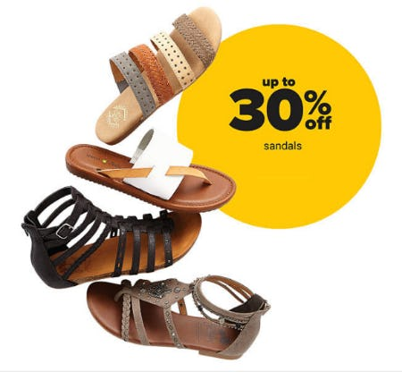 Up to 30% Off Sandals from Belk